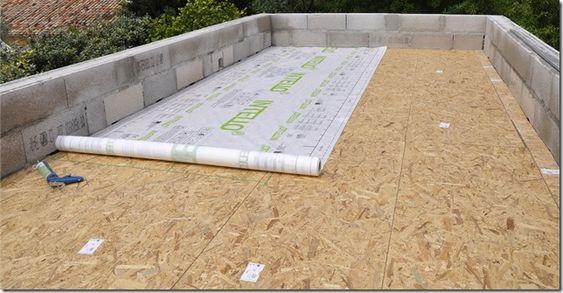 panneaux OSB toit plat