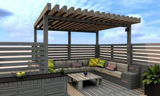 pergola sur rooftop